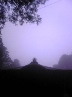 宮城県涌谷町箟岳山山頂の箟峯寺の今朝の画像です。