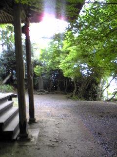 今朝の宮城県涌谷町箟岳山の箟峯寺白山堂前の様子です。
