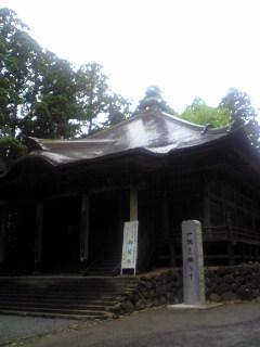 今朝の宮城県涌谷町箟岳山箟峯寺本堂の様子です。