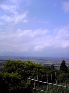 1日午後の宮城県涌谷町箟岳山上空の様子です。