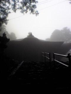 宮城県涌谷町箟岳山箟峯寺本堂の様子です。