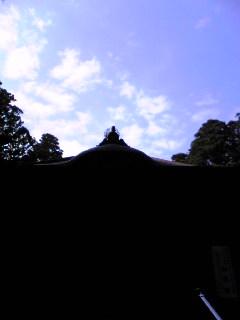 宮城県涌谷町箟岳山山頂の箟峯寺上空の今日の様子です。