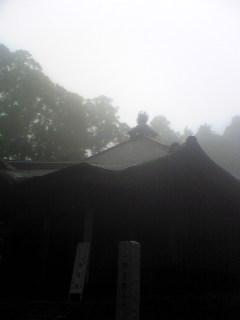 今朝の宮城県涌谷町箟岳山にある箟峯寺本堂の様子です。