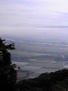 宮城県涌谷町箟岳山から見た箟岳山北東方向の様子です。