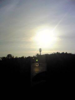 青森県三沢市の小牧温泉上空の様子です。