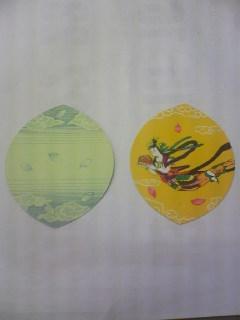 紙でできた蓮華の花びらです。