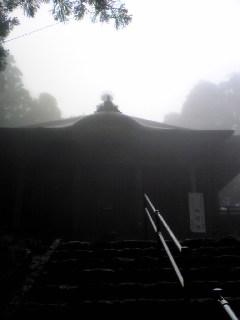 明けて昨日の朝の宮城県涌谷町箟岳山箟峯寺の様子です。