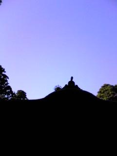 宮城県涌谷町箟岳山の箟峯寺上空の様子です。