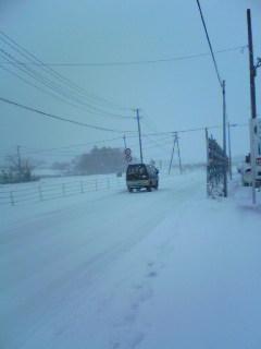 今日午後の宮城県加美町小野田の様子です。