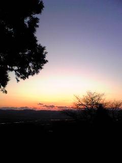 今朝の宮城県涌谷町箟岳山東側の様子です。