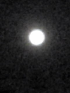 今夜の月の様子です。