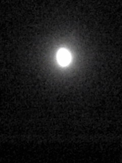 今夜の宮城県涌谷町箟岳山上空のお月様です。
